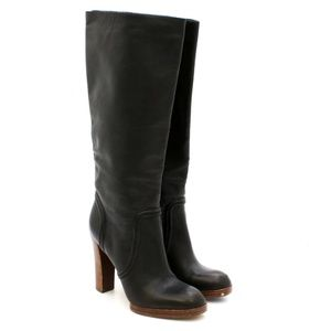KORS by Michael Kors Black Leather Knee-High Boots